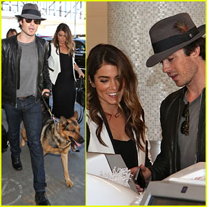 Ian Somerhalder & Nikki Reed Fly Away Together with Dog Ira