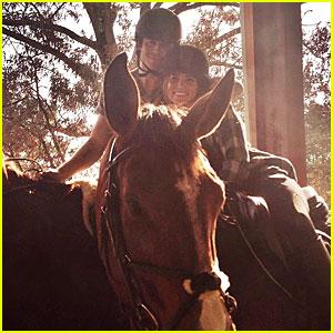 Ian Somerhalder & Nikki Reed Make It Romantic By Horseback Riding Together