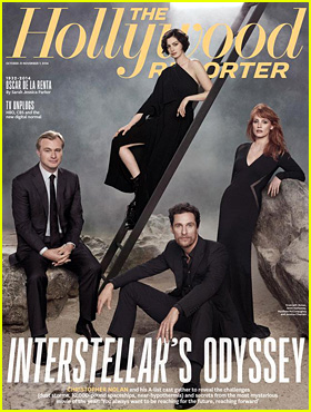 Interstellar's Matthew McConaughey, Jessica Chastain, & Anne Hathaway Go Galactic For New 'THR' Cover