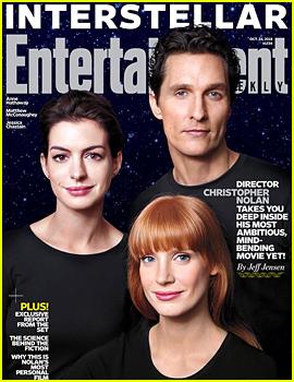 Interstellar's Matthew McConaughey, Jessica Chastain, & Anne Hathaway Preview Their Upcoming Flick in 'EW'