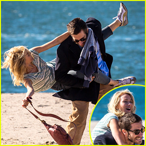 Jake Gyllenhaal Gives Naomi Watts the Wildest Piggy Back Ride Ever (Photos)