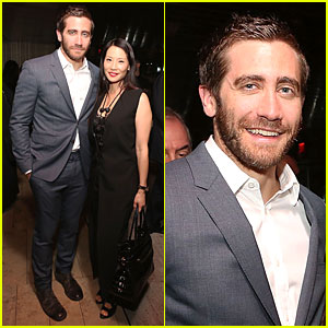 Jake Gyllenhaal Mingles With Lucy Liu at Academy of Motion Pictures New Member Reception