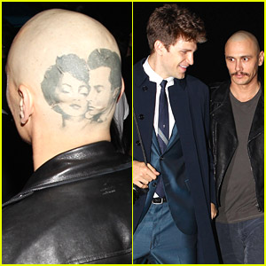 James Franco Shows Off Head Tattoo At Lana Del Rey's Concert in Hollywood