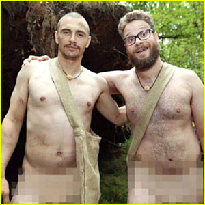 James Franco & Seth Rogen Are 'Naked & Afraid' in These Crazy New Pics