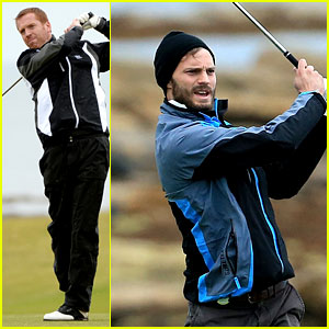 Jamie Dornan Gets In Another Round of Golf with the Stars!