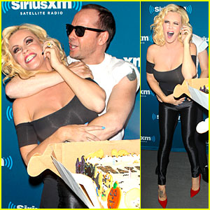 Jenny McCarthy & Donnie Wahlberg Channel 'Grease' at SiriusXM Halloween Party