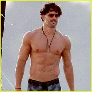 Joe Manganiello Goes Shirtless & Looks So Hot for 'Magic Mike XXL' Beach Scenes!