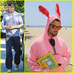 Josh Duhamel Dresses Like a Pink Bunny To Urge Early Education