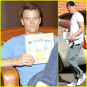 Josh Duhamel Reads 'Bunny Cakes' to Break a Reading Record