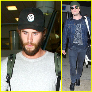 Liam Hemsworth & Josh Hutcherson Arrive in L.A. Ahead of 'Mockingjay' Release