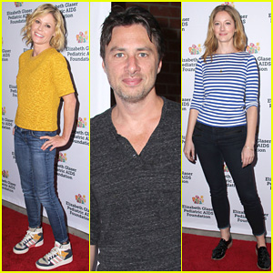 Julie Bowen & Zach Braff Support HIV/AIDS Reseach at 'A Time for Heroes' Celebration 2014!