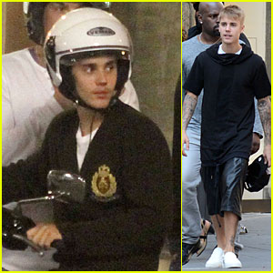 Justin Bieber Travels Florence By Vespa With Dad Jeremy!
