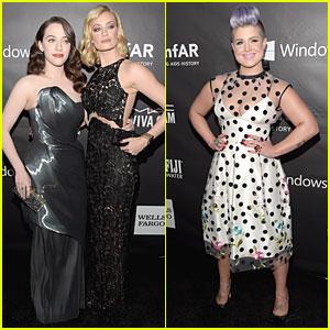 Kat Dennings & Beth Behrs Are Glamorous '2 Broke Girls' at amfAR LA Inspiration Gala