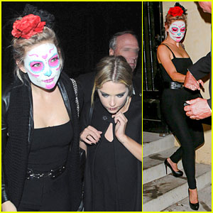 kate hudson ashley benson sport mexican death masks at halloween party - Halloween On The Hudson