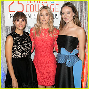 Kate Hudson & Olivia Wilde Honor Women at Courage In Journalism Awards