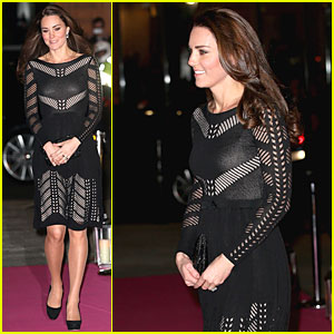 Pregnant Kate Middleton Stuns in Knit Dress at Action on Addiction Gala