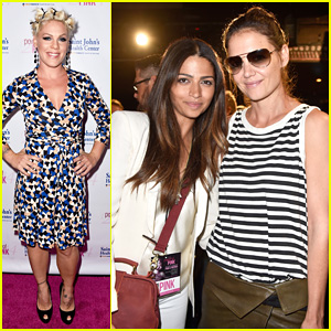 Katie Holmes & Camila Alves Support Cancer Prevention at Power of Pink Benefit 2014!