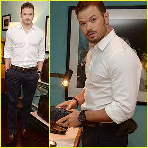 Kellan Lutz Looks Handsome at Tod's Cocktail Party