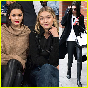 Kendall Jenner & Gigi Hadid Root For Knicks at Madison Square Garden