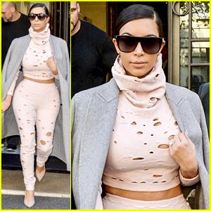 Kim Kardashian Jets Off with North After Paris Fashion Week