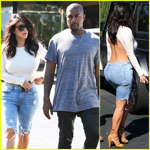 Kim Kardashian Wears Open-Back Shirt for Sunday Date with Kanye West