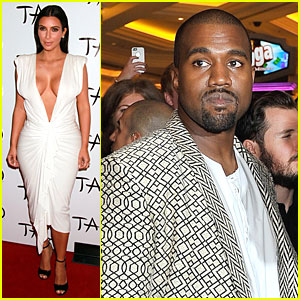 Kim Kardashian Shows Sexy Clevage at Las Vegas Birthday Party