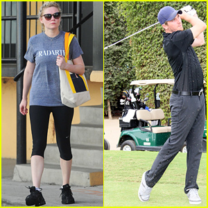 Kirsten Dunst Goes to the Gym While Garrett Hedlund Golfs the Afternoon Away!
