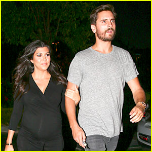 Kourtney Kardashian Looks Very Pregnant on Date Night with Scott Disick