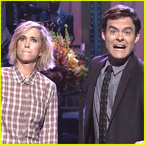 Kristen Wiig Joins Bill Hader for 'SNL' Opening Monologue!