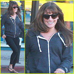 Lea Michele Gets Back To Her Car in the Nick of Time!