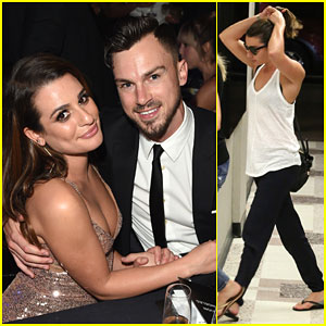 Lea Michele & Matthew Paetz Make Their First Official Appearance Together at amfAR Gala!