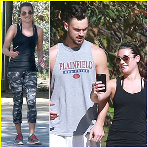 Lea Michele & Matthew Paetz Keep Each Other Happy on a Hike