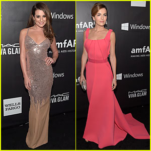Lea Michele & Camilla Belle Are Gorgeous at amfAR LA Inspiration Gala 2014