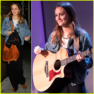 Leighton Meester Performs in NYC as She Focuses on Music