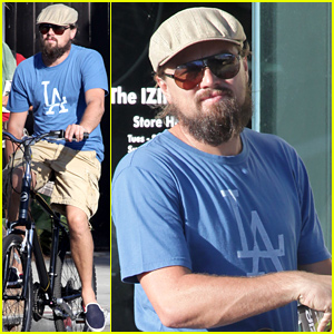 Leonardo DiCaprio Keeps the Environment in Mind By Biking Around Venice Beach