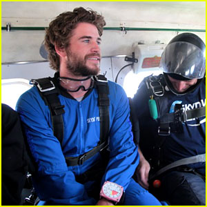 Liam Hemsworth Went Skydiving & W
