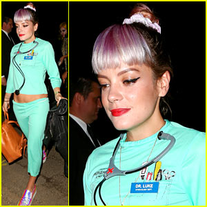 Lily Allen Dresses as Dr. Luke for Halloween Amid Kesha's Claims