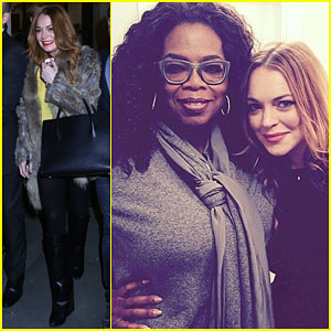 Lindsay Lohan Gets a Special Visit from Her 'Fairy Godmother' Oprah!