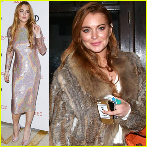 Lindsay Lohan Sparkles for 'Speed the Plow' Press Night
