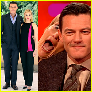 Luke Evans Gets Photobombed by Emma Thompson! (Video)