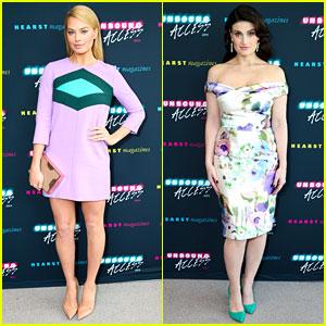 Margot Robbie & Idina Menzel Defy Gravity for Hearst MagFront