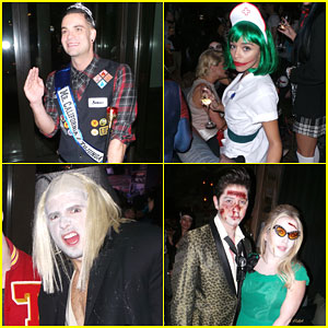 Mark Salling & Ashley Madekwe Get Into Character for Halloween Party