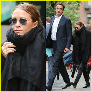 Mary-Kate Olsen & Olivier Sarkozy Show Some Rare PDA After Lunch