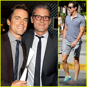Matt Bomer Gets Visit from Husband Simon Halls in Savannah!