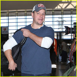 Matt Damon Takes to the Sky & Jets Out of the States