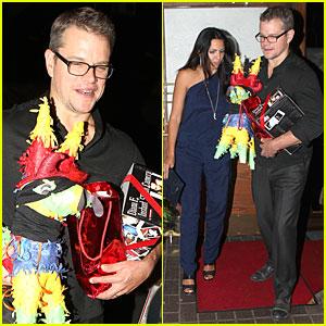 Matt Damon Has Pinata Fiesta For 44th Birthday Celebration