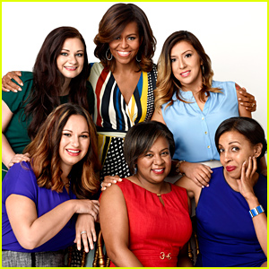 Michelle Obama Poses with Five Female Veterans for 'Redbook' November 2014