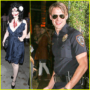 Michelle Trachtenberg Looks Scary & Bloody as Black Dahlia at Halloween Party