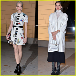 Michelle Williams & Marion Cotillard Celebrate the Foundation Louis Vuitton Opening!
