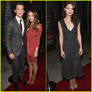 Miles Teller Takes 'Whiplash' To L.A. with Girlfriend Keleigh Sperry & Co-Star Melissa Benoist!